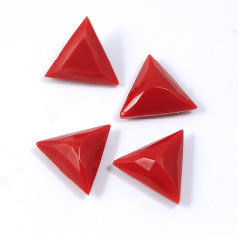 13mm Opaque Red Triangle Cabochon #XS30-F-General Bead