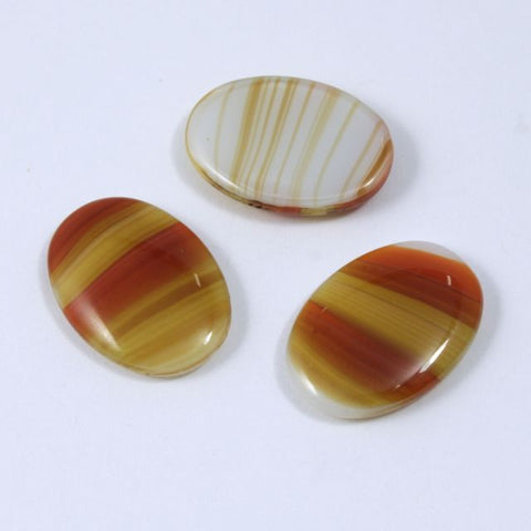 13mm x 18mm Terracotta Topaz Stripe Cabochon #XS28-C-General Bead