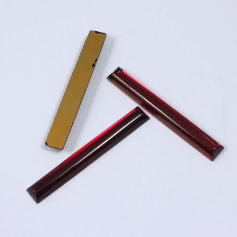 40mm Ruby Red Long Bar Cabochon #XS26-E-General Bead