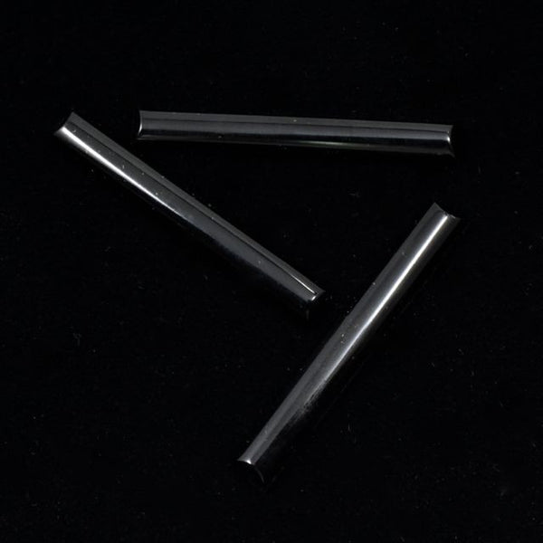 40mm Jet Black Long Bar Cabochon #XS26-F