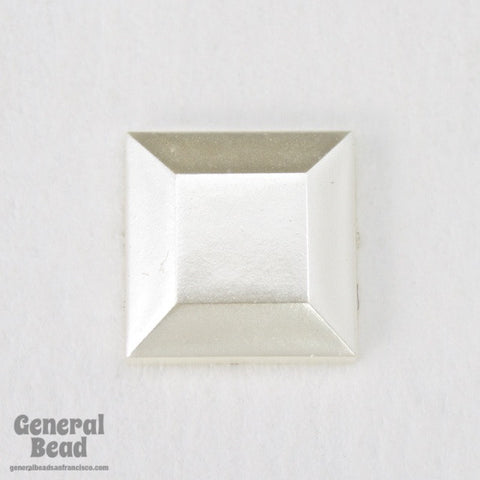 10mm Luster White Square Cabochon-General Bead