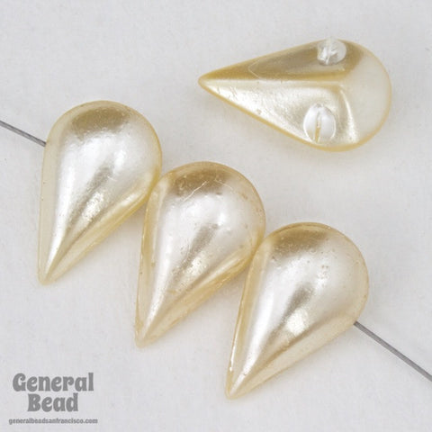 13mm Off White Imitation Pearl Teardrop