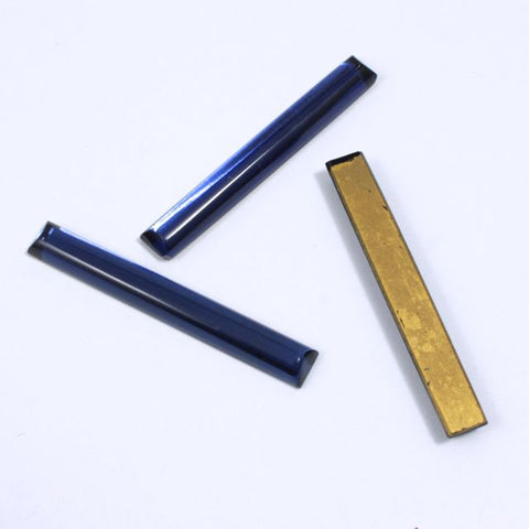 40mm Dark Sapphire Long Bar Cabochon #XS26-D-General Bead