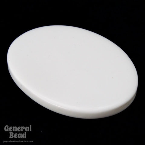 27mm x 35mm White Oval Blank (2 Pcs) #3960