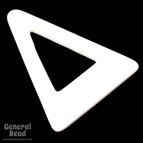 40mm x 60mm White Open Triangle Blank