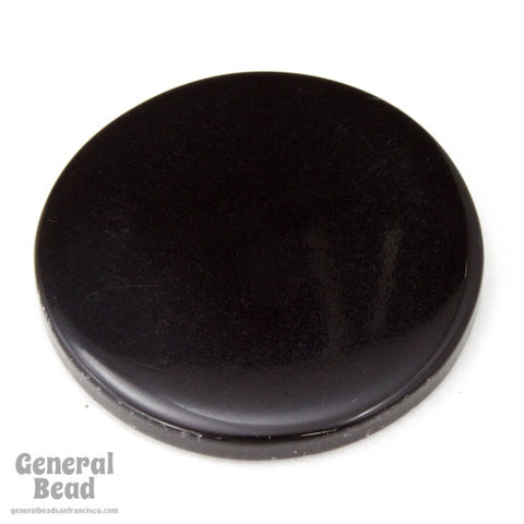 30mm Opaque Black Circle Blank