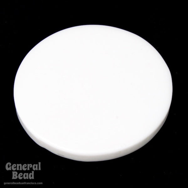 30mm Opaque White Circle Blank (2 Pcs) #3984