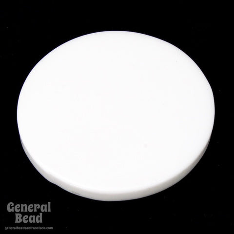 30mm Opaque White Circle Blank