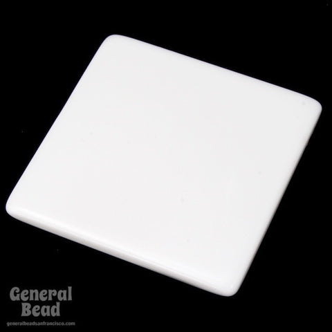 40mm White Square Blank