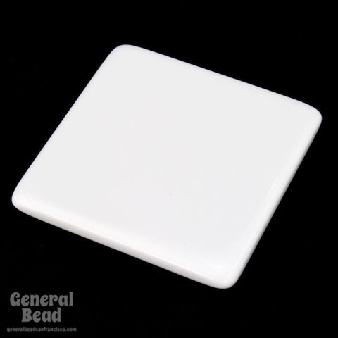 30mm White Square Blank