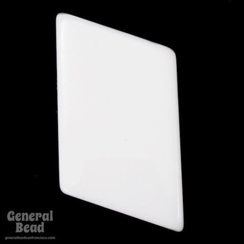 25mm x 40mm White Parallelogram Blank