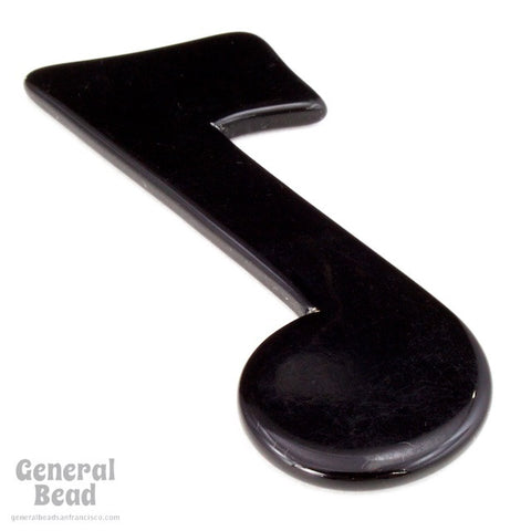 25mm x 40mm Black Music Note Blank