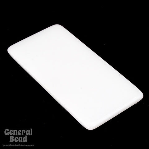 25mm x 50mm White Rectangle Blank (2 Pcs) #4003