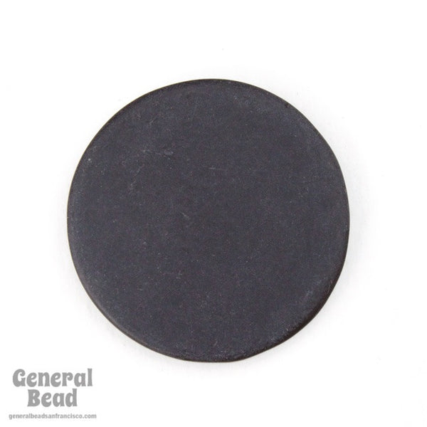 25mm Opaque Matte Black Circle Blank (4 Pcs) #4008