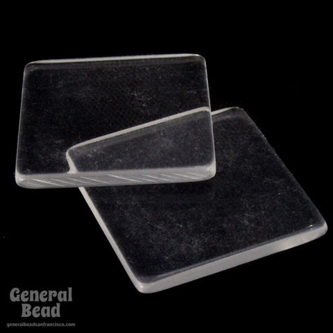 25mm Clear Square Blank