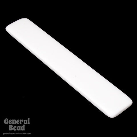 13mm x 75mm White Bar Blank (2 Pcs) #4026