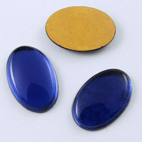 10mm x 14mm Dark Blue Oval Cabochon #XS33-I-General Bead
