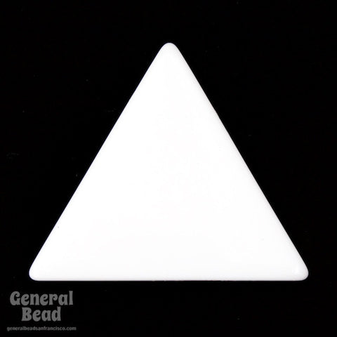 35mm White Triangle Blank (4 Pcs) #4032