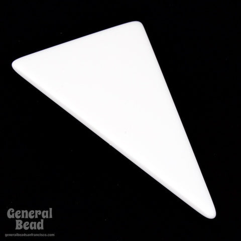35mm x 65mm White Triangle Blank (2 Pcs) #4035