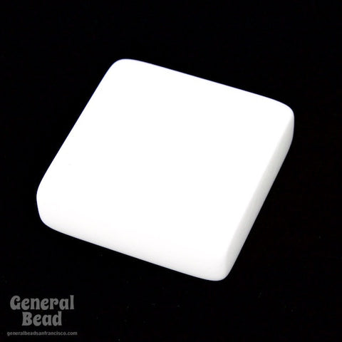20mm White Square Blank