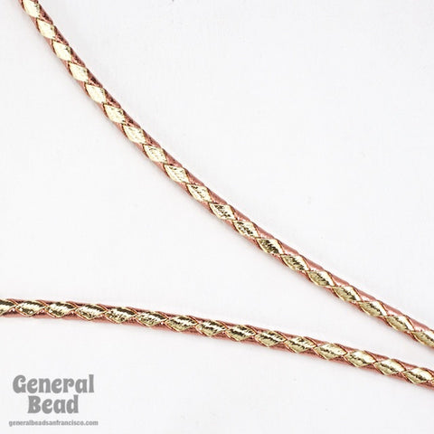 "36"" Metallic Copper/Gold Bolo Cord"