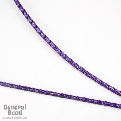 "36"" Black/Metallic Purple Bolo Cord"