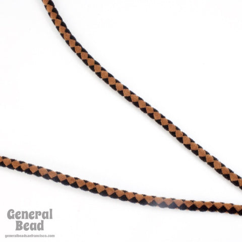 "36"" Black/Brown Velour Bolo Cord"