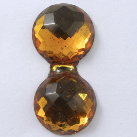 15mm x 30mm Double Bubble Faceted Topaz Cabochon #XS34-C-General Bead