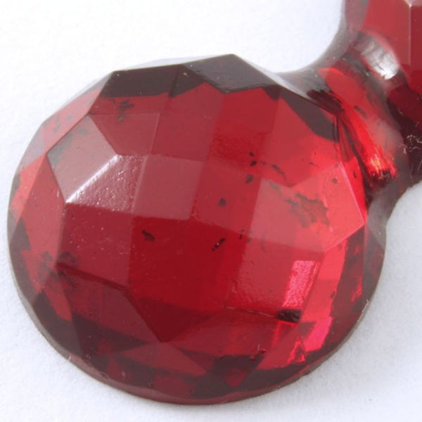 15mm x 30mm Double Bubble Faceted Ruby Cabochon #XS34-F