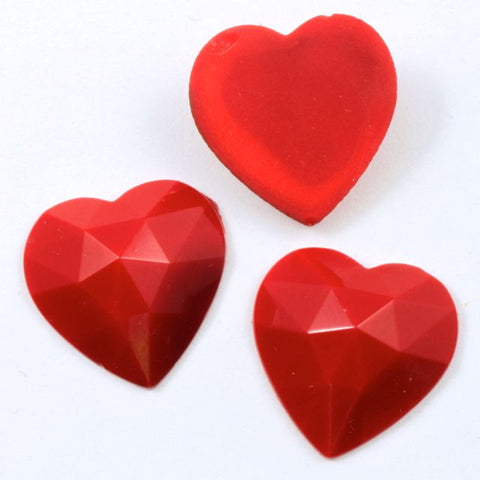 18mm Red Heart Cabochon #XS30-A-General Bead