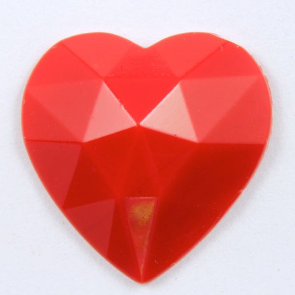 18mm Red Heart Cabochon