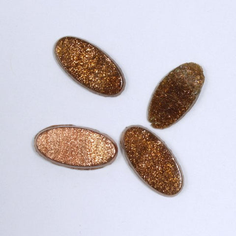 7mm x 14mm Bronze Oval Cabochon (4 Pcs) #XS32-F-General Bead