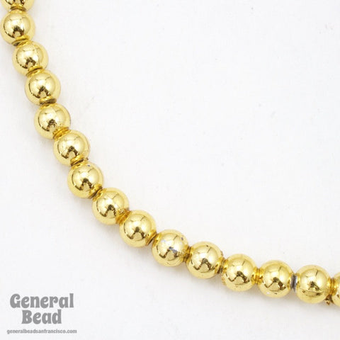 6mm Bright Gold Craft Pearl Strand