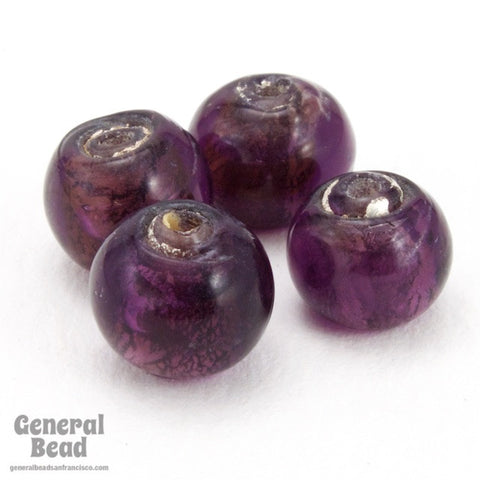 10mm Silver Lined Amethyst Bead #4299