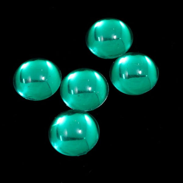 11mm Emerald Green Round Cabochon