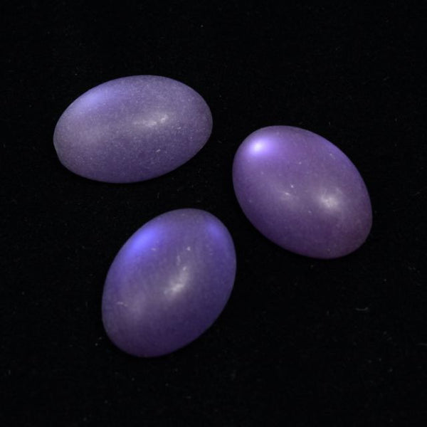 13mm x 18mm Frosted Purple Oval Cabochon
