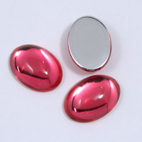 18mm Pink Oval Cabochon-General Bead
