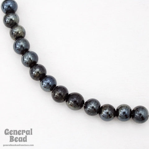 10mm Black Luster Bead (50 Pcs) #4544