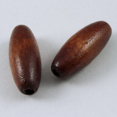 15mm Brown Oval Wood Bead-General Bead