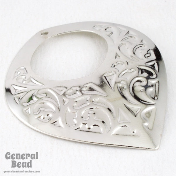 50mm x 55mm Ornate Silver Hoop