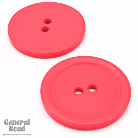 28mm Dark Pink Button #4788-General Bead