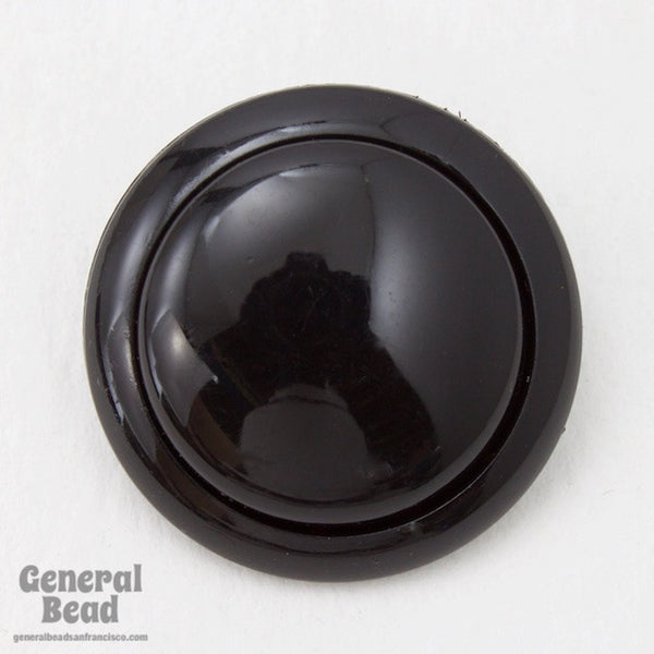 25mm Black Domed Button