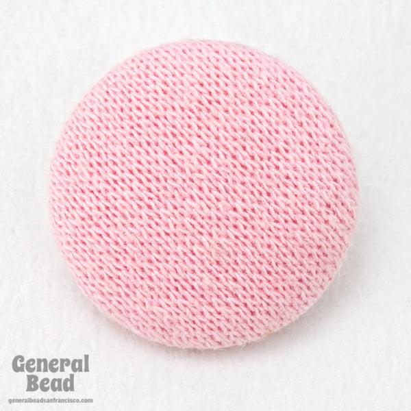 27mm Pink Knit Covered Button