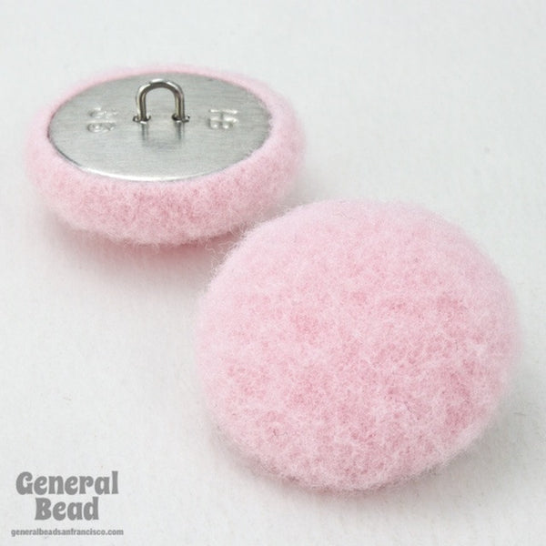 25mm Fuzzy Pink Button