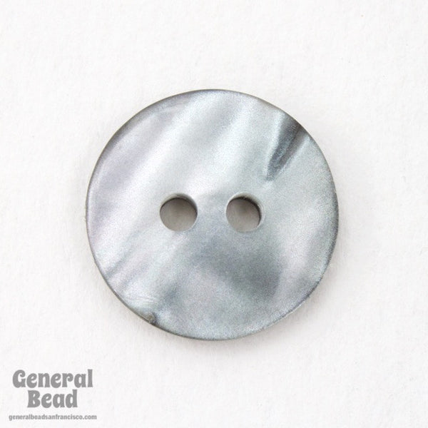 15mm Pearly Grey Button