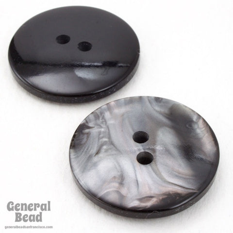 24mm Pearly Grey Button #4862-General Bead
