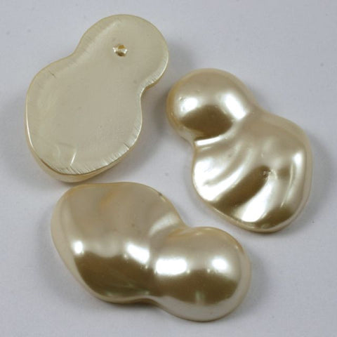 27mm x 43mm Faux Pearl Cabochon-General Bead