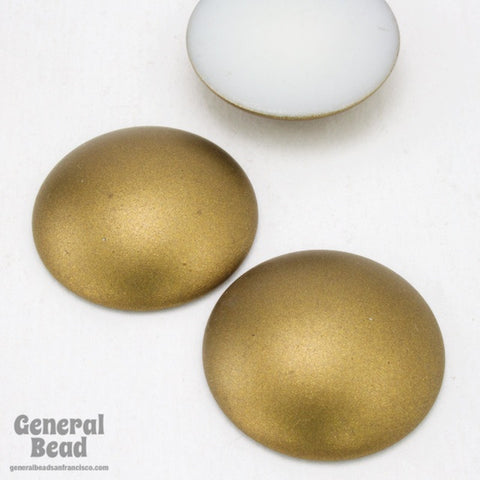 23mm Matte Bronze Low Dome Cabochon-General Bead