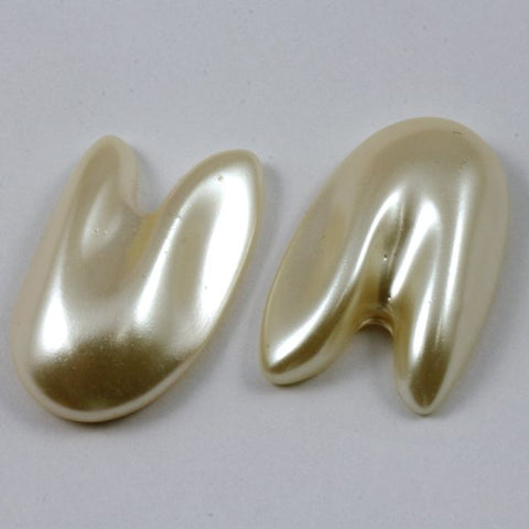 20mm x 30mm Faux Pearl Cabochon-General Bead