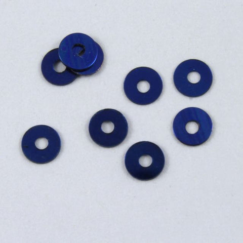 3mm Metallic Cobalt Sequin-General Bead
